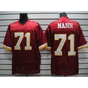 Charles Mann Red Stitched Throwback Jersey